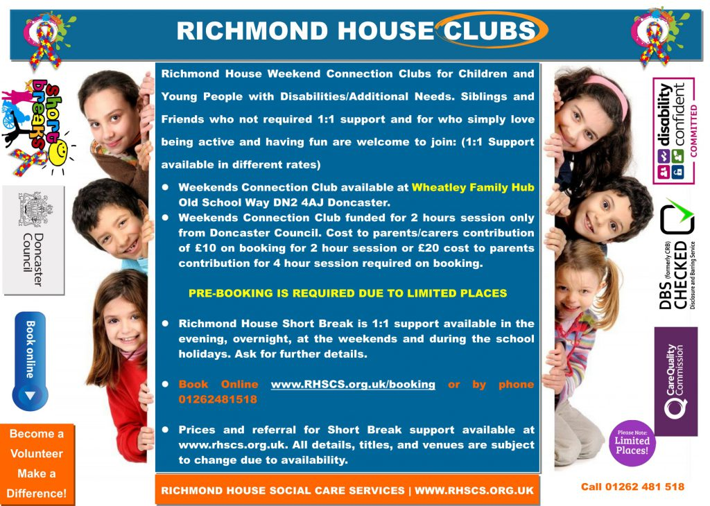 Wheatley Family Hub Weekends Connection Club Leaflet 2
