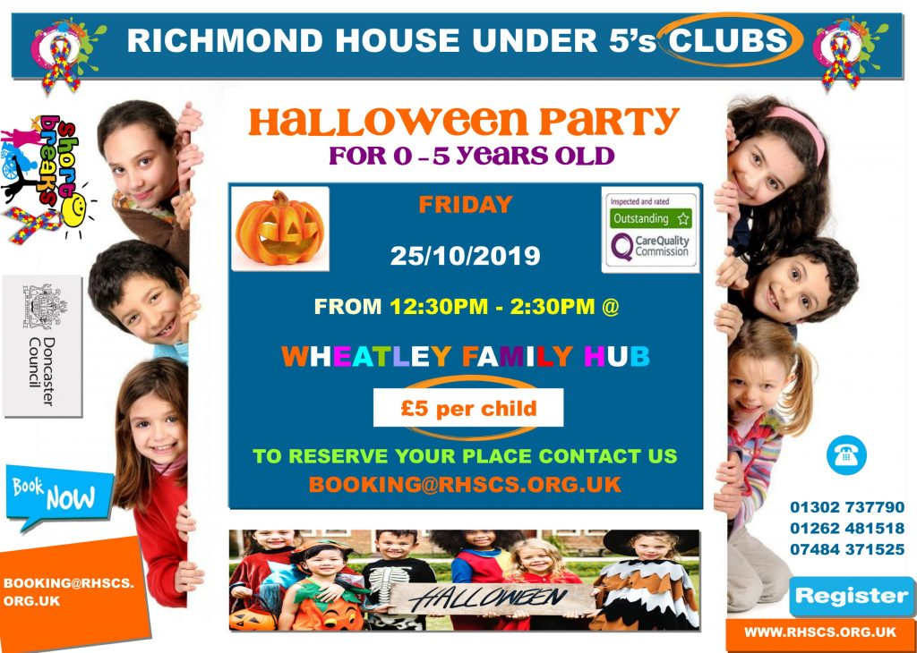 Richmond House Halloween Party Oct 25 2019 for under 5 1 1