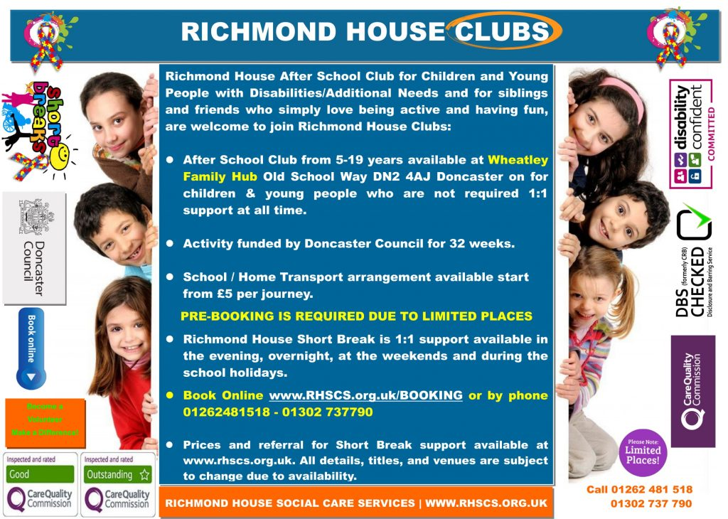 Wheatley Family Hub After School Club Sep 2019 2